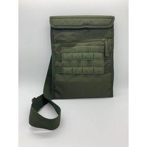 Olive Green Messenger Bag w/Adjustable Strap